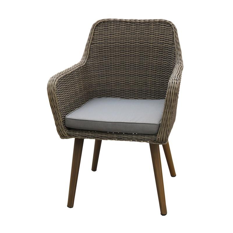 fauteuil de jardin en aluminium et resine tressee cuba alu d011. Black Bedroom Furniture Sets. Home Design Ideas