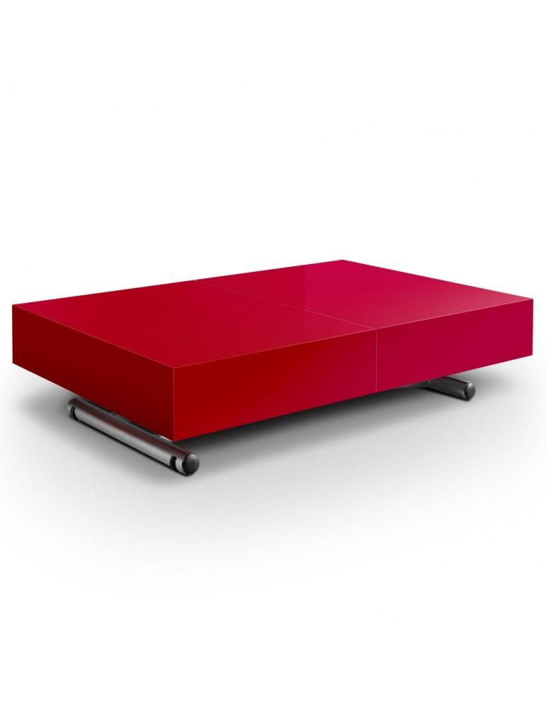Table basse relevable Cassidy Rouge B2232-Rouge