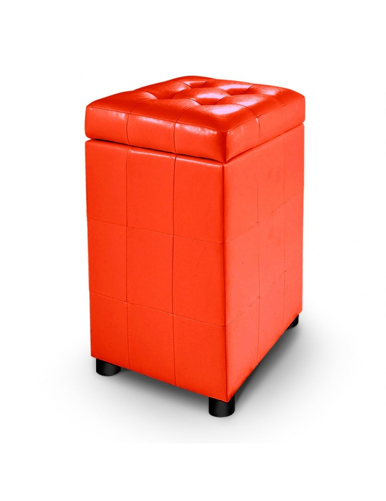 Pouf-coffre capitonné Kubotower Orange KU035