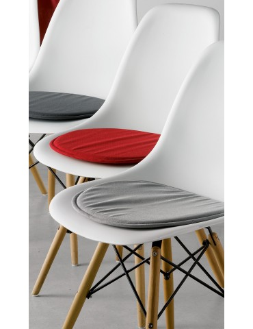 Galette de chaise Skandi Rouge 38 x 38 x 2 cm 3422030000Les Ateliers du Linge
