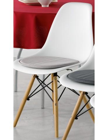 Galette de chaise Skandi Cément 38 x 38 x 2 cm 3422072000Les Ateliers du Linge