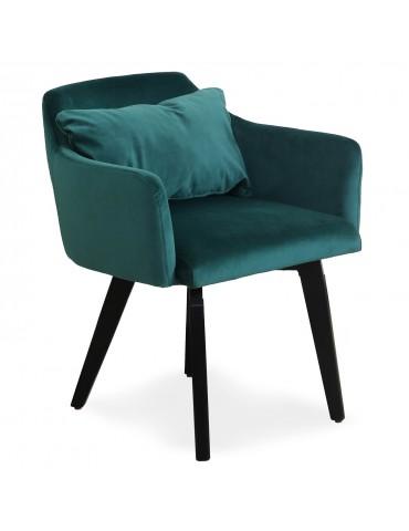 Chaise / Fauteuil scandinave Gybson Velours Vert LH5030green