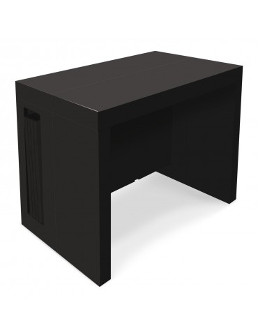 Table console extensible Chay Noir laqué dt41ablack