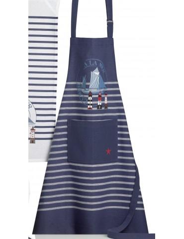 Tablier de cuisine adulte tourtan mer Bleu 72 x 85 2676060000Ça et Là