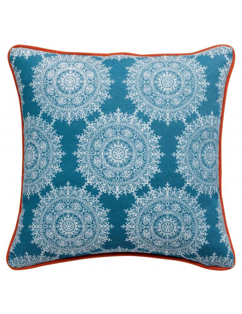 Coussin Sioux Bleu denim 40 x 40 7804060000Les Ateliers du Linge