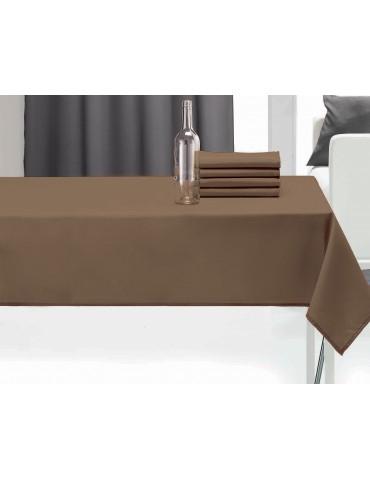 Nappe rectangulaire uni pes Ecorce 140 x 240 1474075601Les Ateliers du Linge