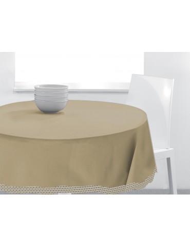 Nappe ronde Tosca Cement diamètre 150 cm 4339061000Les Ateliers du Linge