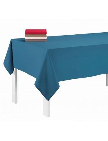 Nappe rectangulaire uni Pes Bleu denim 140 x 240 1474063601Les Ateliers du Linge