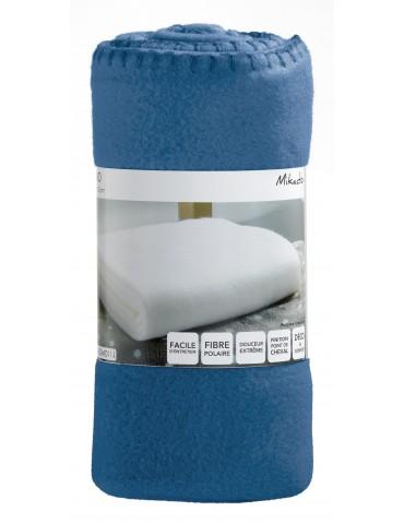 Plaid Mikado Bleu denim 100 x 150 4766263000Les Ateliers du Linge
