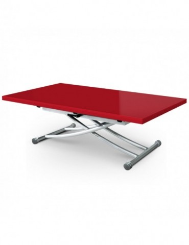 Table basse relevable Carrera XL Rouge laqué b2219xlrouge