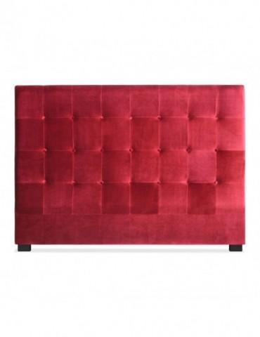 Tête de lit Luxor 160cm Velours Rouge lf155h160vrouge