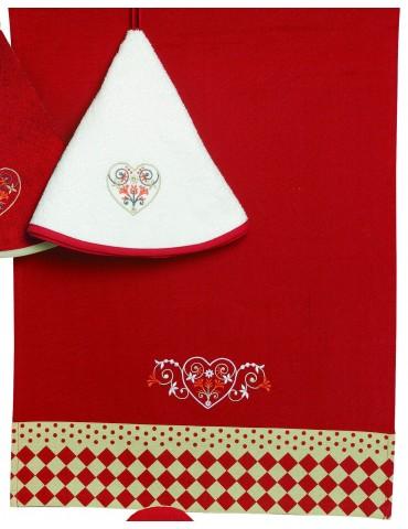 Torchon Rosa Rouge 70 X 50 3903030000Ça et Là