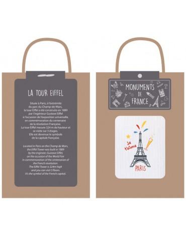 Torchon Recette Tour Eiffel Blanc 40 X 60 4122093000Ça et Là