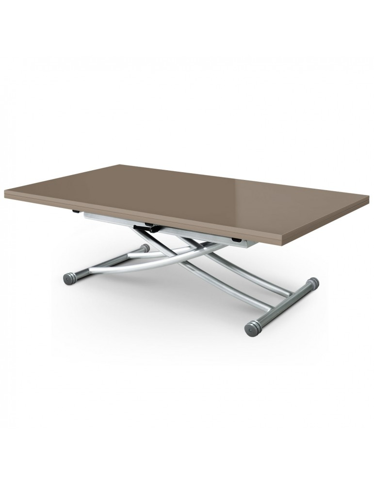 Table basse relevable carrera xl taupe laqu b2219xltaupe Table basse relevable carrera
