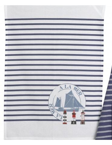 Torchon Tourtan mer Bleu 50 x 70 2633060000Ça et Là