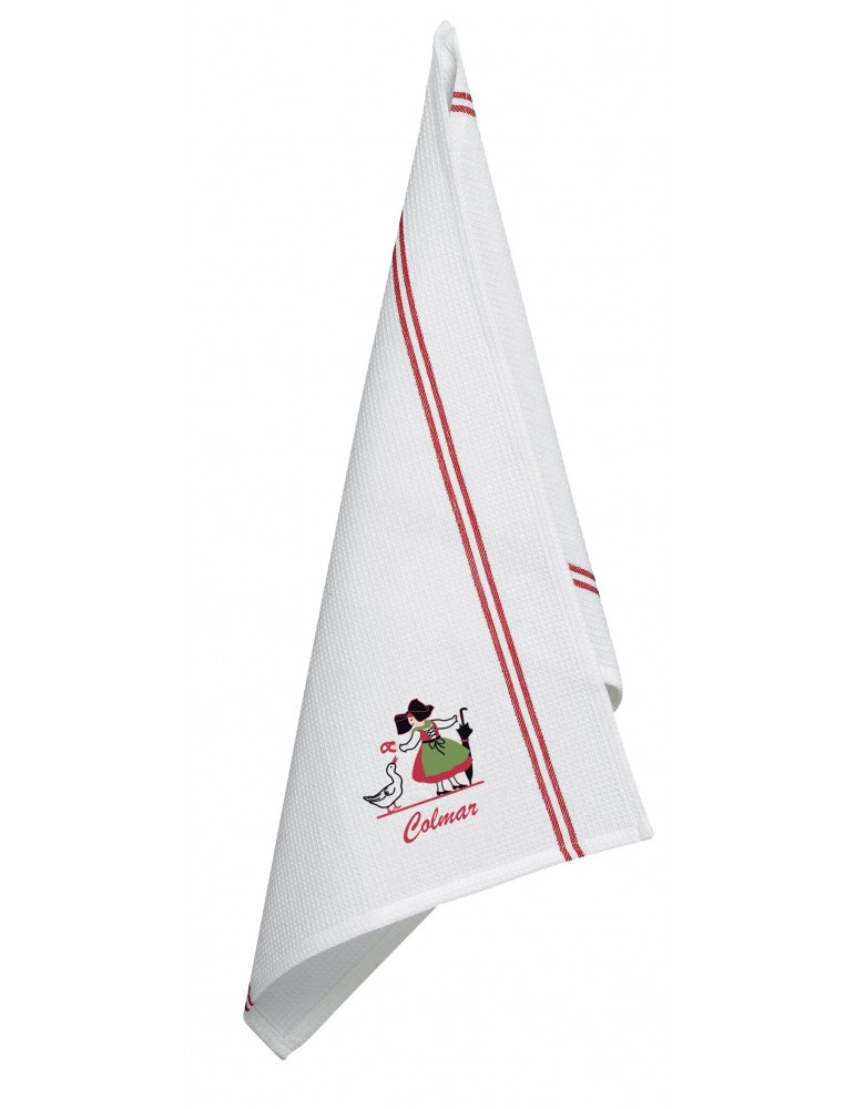 Torchon Na Brodé Alsacienne Oie Colmar Blanc 50 x 70 6402093000Ça et Là