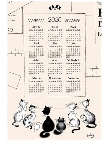 Torchon Dubout Calendrier Mural 2020 Ecru 48 x 72 6951010000Torchons & Bouchons