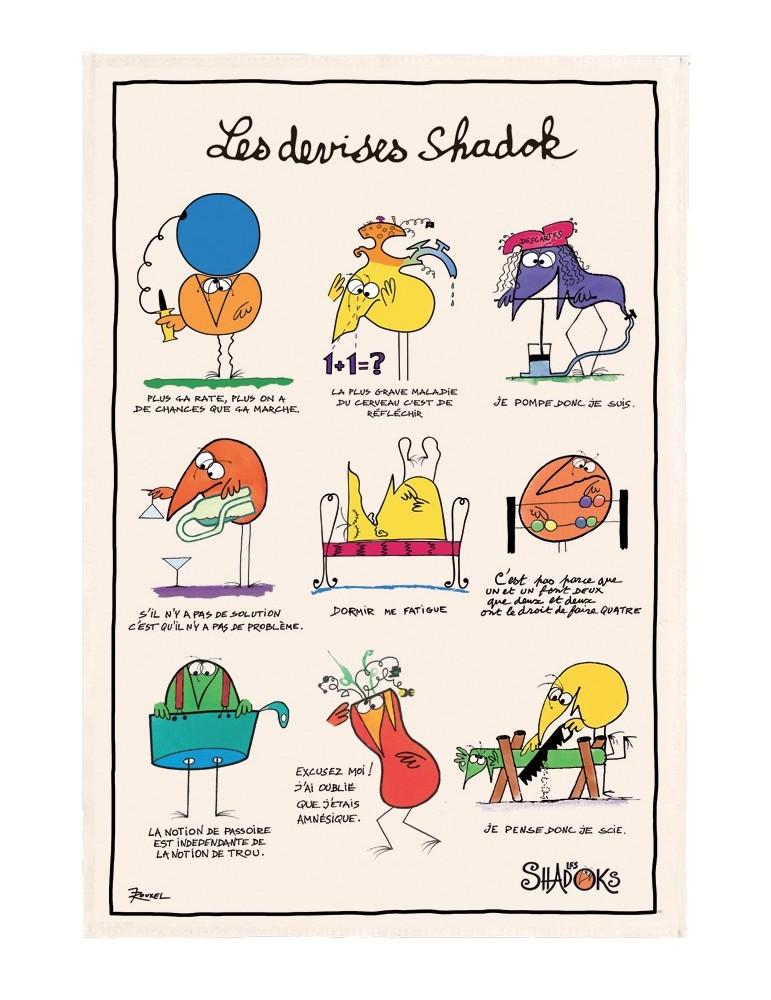Torchon Shadoks Les devises Ecru 48 x 72 6962010000Torchons & Bouchons