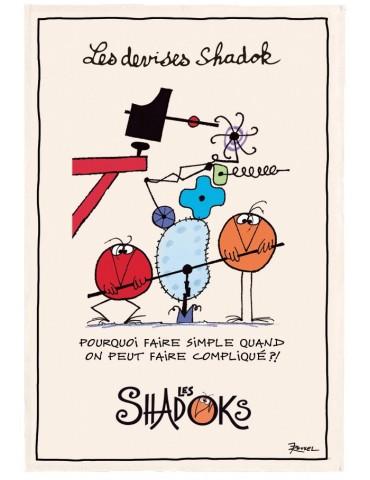 Torchon Shadoks Pourquoi faire simple Ecru 48 x 72 6964010000Torchons & Bouchons