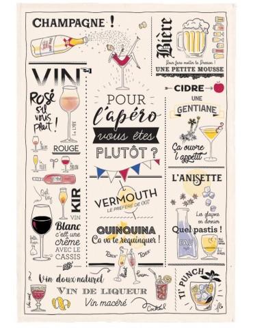 Torchon Verres et apéros Ecru 48 x 72 6982010000Torchons & Bouchons