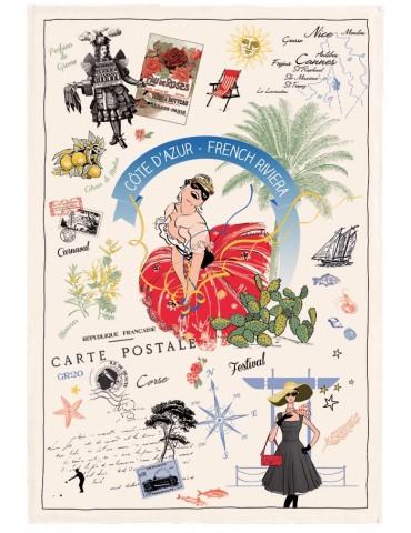 Torchon Azur Panorama Ecru 48 x 72 7020010000Torchons & Bouchons