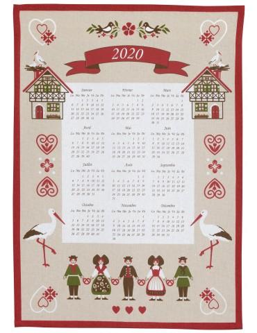 Torchon Calendrier 2020 Hisla Beige 50 x 70 7956080000Ça et Là