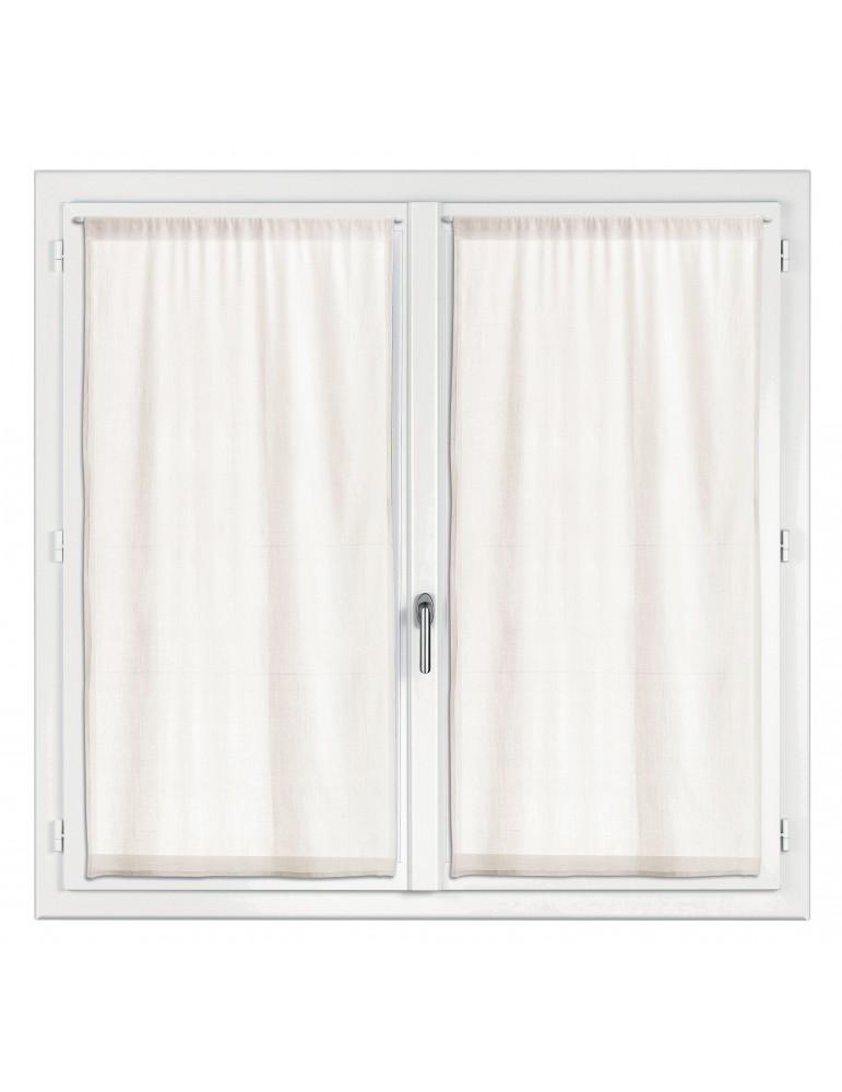 2 rideaux voile Touch Ecru 45 x 90 7586012202Les Ateliers du Linge