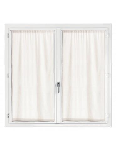 2 rideaux voile Touch Ecru 60 x 120 7587012202Les Ateliers du Linge