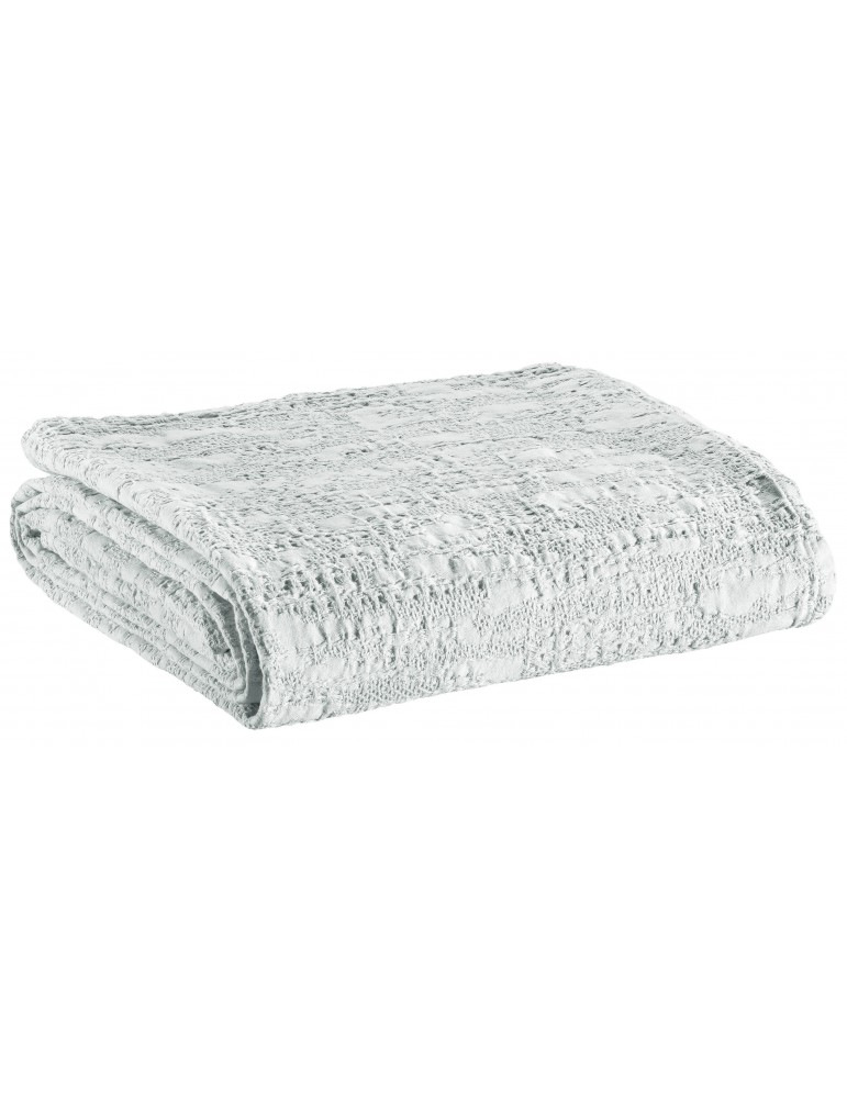 Couvre-lit Stonewash Santana Blanc 240 x 260 2057010000Winkler
