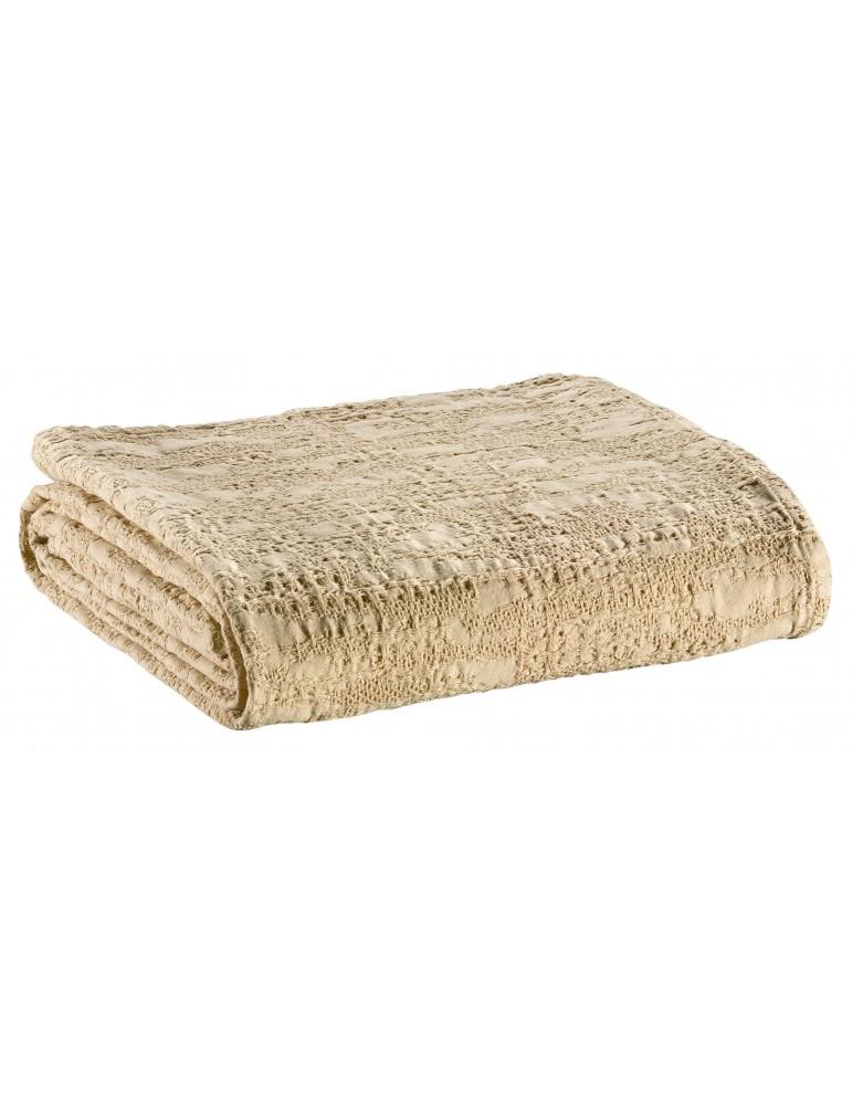 Couvre-lit Stonewash Santana Jute 260 x 260 2063082000Winkler