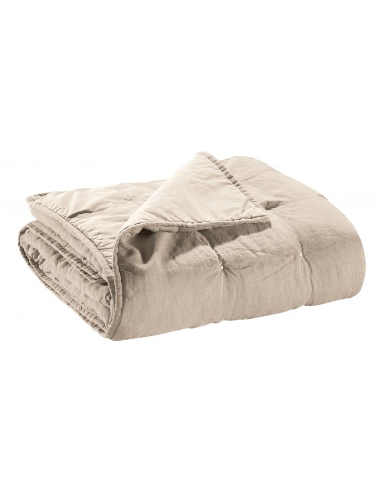 Jeté de lit Stonewashed Zeff Naturel 180 x 260 3045080000Vivaraise
