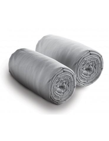 Double drap housse spécial matelas double Gris 80 x 200 x 30 4700070502Les Ateliers du Linge