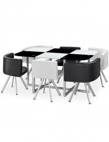 Table Mosaic XL Bicolore Noir et Blanc 803cnoirblanc