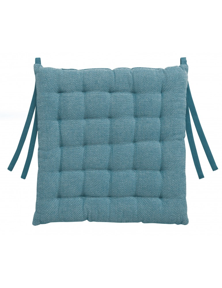 Galette de chaise Kalan Bleu denim 38 x 38 x 3 7424060000Les Ateliers du Linge