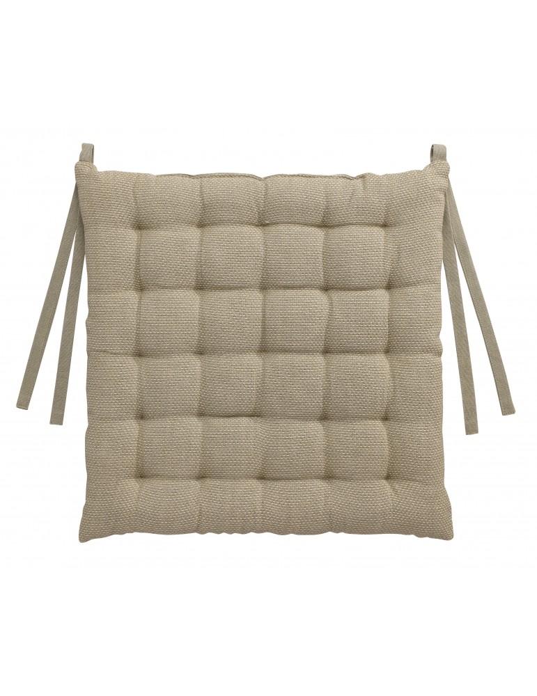 Galette de chaise Kalan Cément 38 x 38 x 3 7424082000Les Ateliers du Linge
