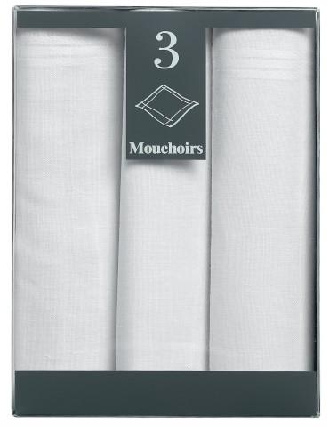 Boîte de 3 mouchoirs Diffusion femme Elea Blanc 35 x 35 3248010803Winkler