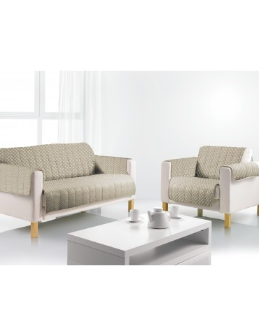 Protège-fauteuil Lizzy Argile 160 X 179 8191072401Les Ateliers du Linge