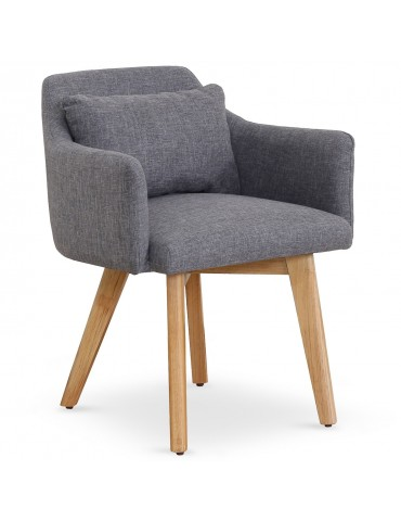 Lot de 20 chaises / fauteuils scandinaves Gybson Tissu Gris clair lf5030lot20lightgrey