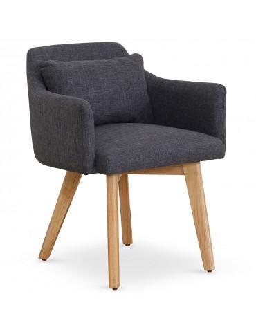 Lot de 20 chaises / fauteuils scandinaves Gybson Tissu Gris foncé lf5030lot20darkgreyfabric