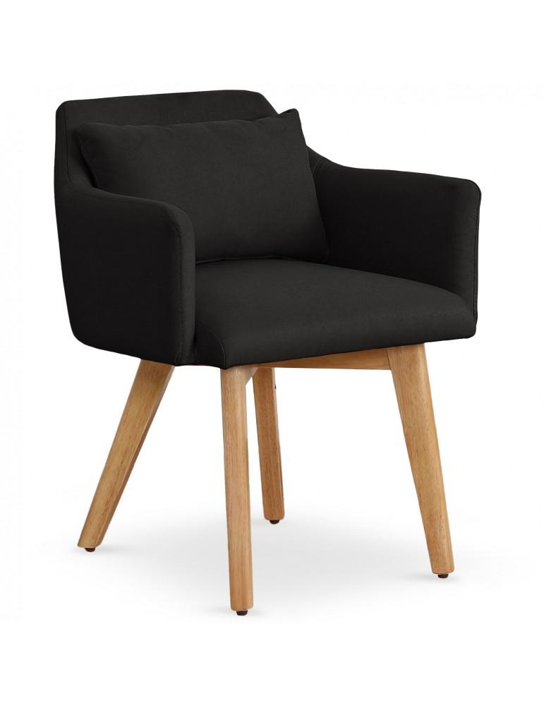 Lot de 20 chaises / fauteuils scandinaves Gybson Tissu Noir lf5030lot20blackfabric