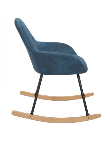 Rocking Chair Virtuoz Tissu Vieilli Bleu wx29261yblue