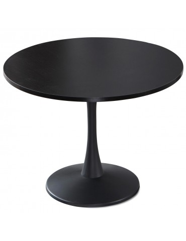 Table ronde Necy Noir 100 x 100 x 74 cm a19black