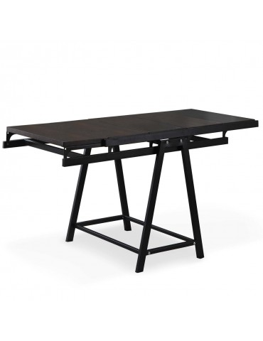 Table / Bibliothèque transformable gain de place Clever Noir gateblack
