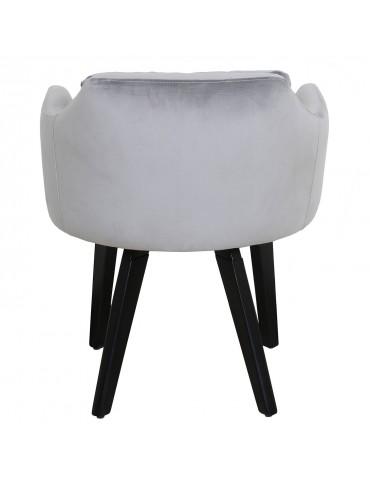 Lot de 20 chaises / fauteuils Gybson Velours Argent lh5030lot20silver