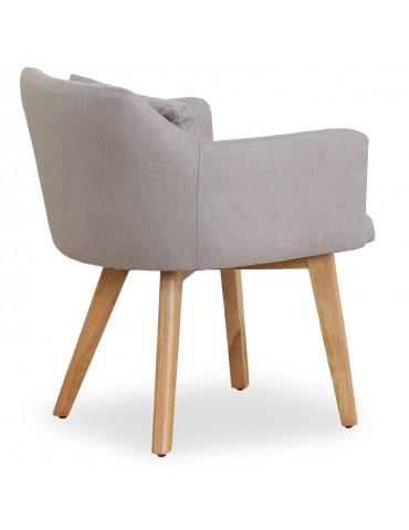 Lot de 20 chaises / fauteuils scandinaves Gybson Tissu Beige lf5030lot20beigefabric