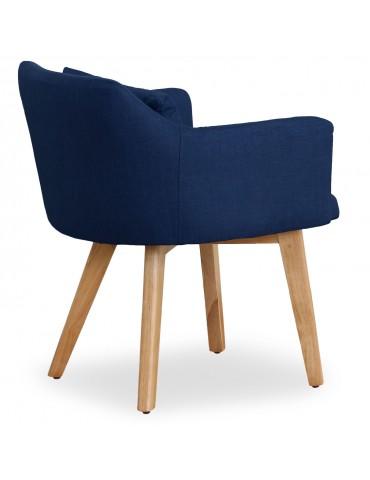 Lot de 20 chaises / fauteuils scandinaves Gybson Tissu Bleu lf5030lot20bluefabric