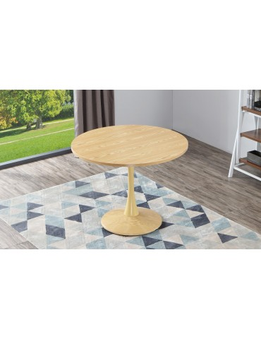 Table ronde Necy Chêne 100 x 100 x 74 cm a19oak