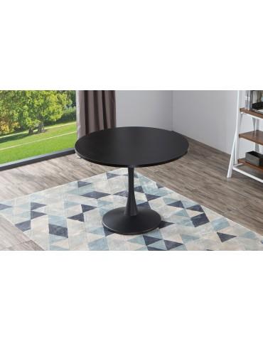 Table ronde Necy Noir 100 x 100 x 74 cm a19black