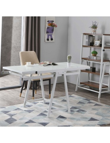 Table / Bibliothèque transformable gain de place Clever Blanc gatewhite