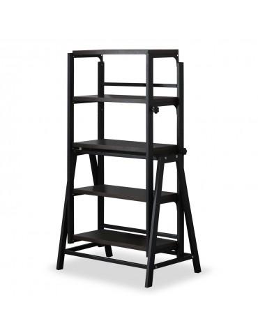 Table / Bibliothèque transformable gain de place Clever Noir gateblack